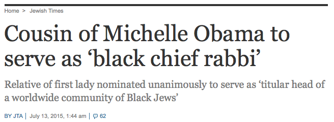 États-Unis : Le « Grand Rabbin noir »…