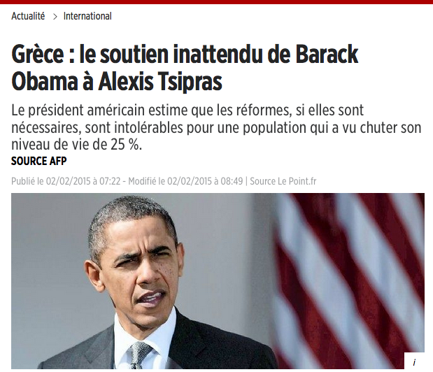 Grèce : le soutien inattendu de Barack Obama à Alexis Tsipras