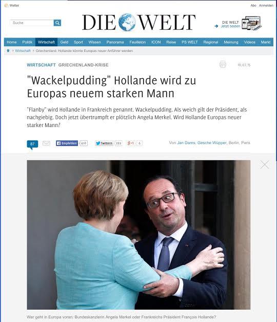 Hollande Die Welt