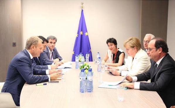 Alexis Tsipras), Angela Merkel et François Hollande,: Le Grec Round ...