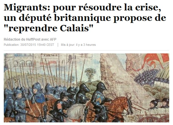 Migrants pour résoudre la crise, un député britannique propose de reprendre Calais