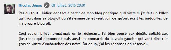 Nicolas Jegou la Gaffe au noir