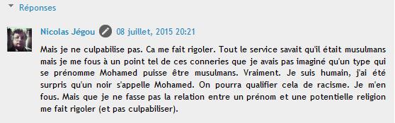 Nicolas Jegou racisme ordinaire  la Gaffe au noir