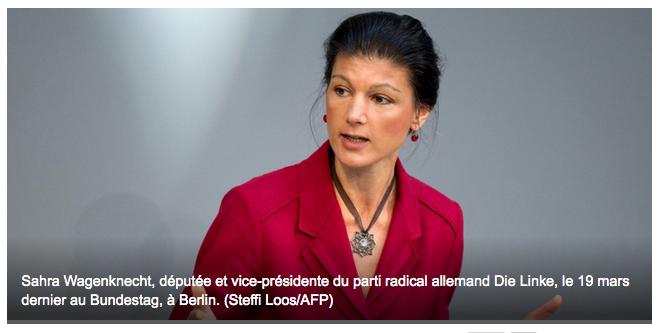 Sahra la Rouge, l'icône anti-Merkel