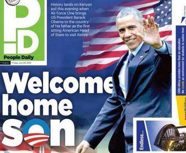 Welcome home Son Obama au Kenya