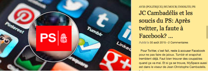 JC Cambadélis et les soucis du PS: Après twitter, la faute à Facebook? …