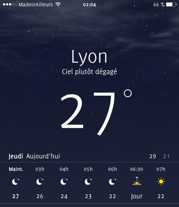 Lyon canicule chaleur
