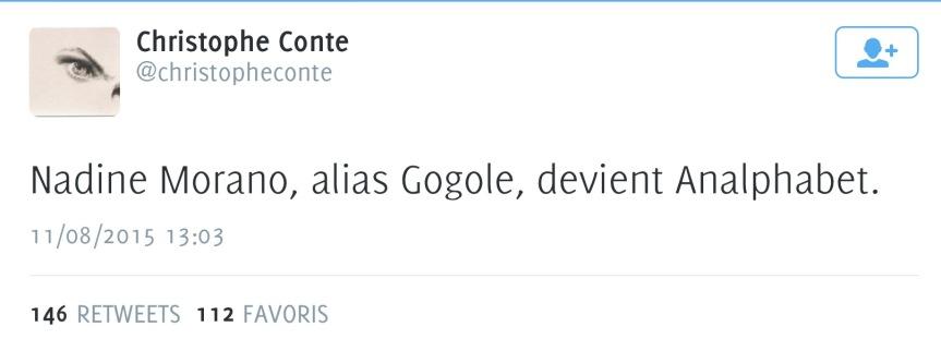 Nadine Morano Gogole Alphabet Google