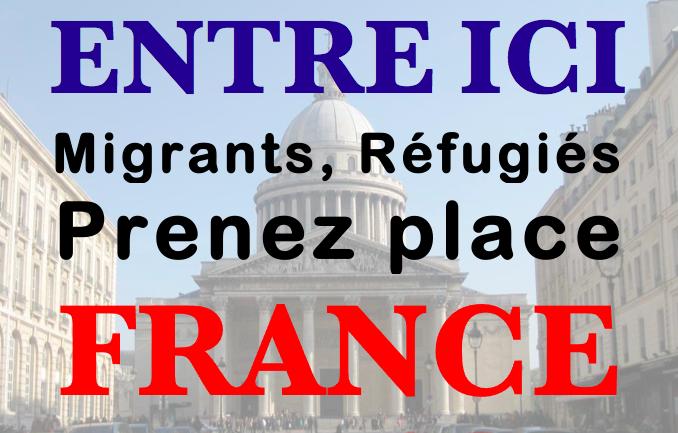 Réfugiés, Migrants Entre ici, Panthéon