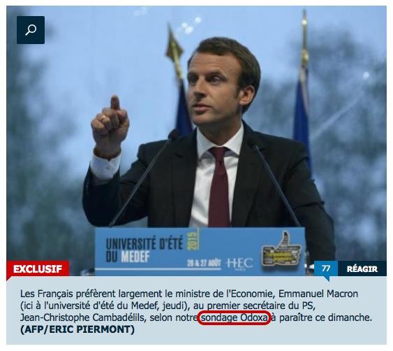 Sondage : les sympathisants PS préfèrent Macron à Cambadélis