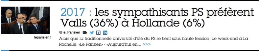 Sondage : les sympathisants PS préfèrent Valls à F Hollande