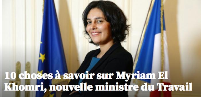 10 choses à savoir sur Myriam El Khomri, nouvelle ministre du Travail