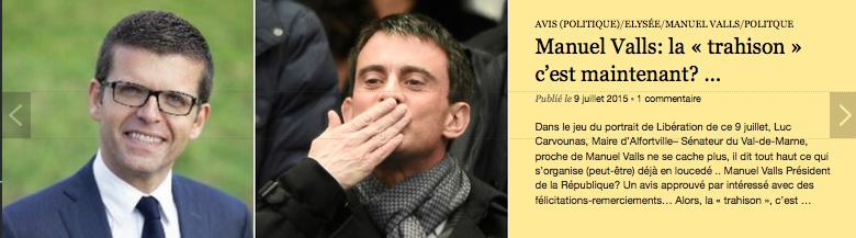 Clic poiur lire Manuel Valls: la « trahison » c'est maintenant? …
