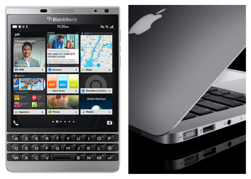 Blackberry Passport Silver Edition MackBook Air