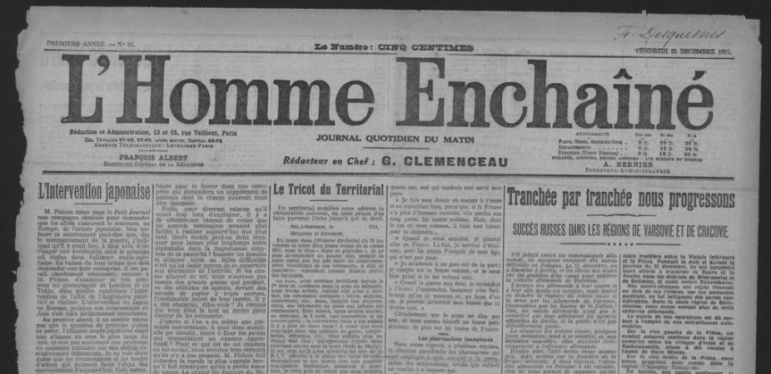 L'Homme enchainé, L'Homme Libre, Canard Enchainé