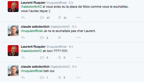 Ruquier Askolovitch twitter clash