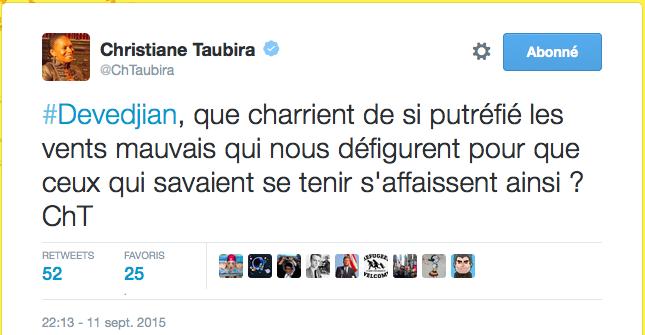 Taubira Devedjian les réfugiés nos juifs