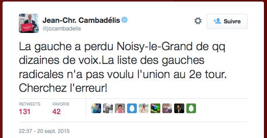 Tweet JC Cambadelis