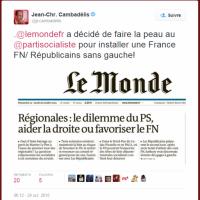 Ivre, JC Cambadelis voit des «complots» partout: Célafôte au «Journal Le Monde» ...