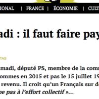 Deutéronome (PS): Razzy A. m'a dit, «Pauvre, l'impôt tu paieras!»...