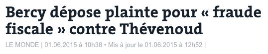 Bercy dépose plainte pour « fraude fiscale » contre Thévenoud
