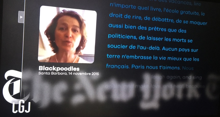 Éloge Paris France New York Times attentats