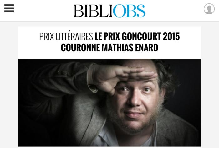 Prix Goncourt 2015 Mathias Enard Boussole