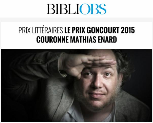 Mathias Enard, «Boussole» et Prix #Goncourt 2015