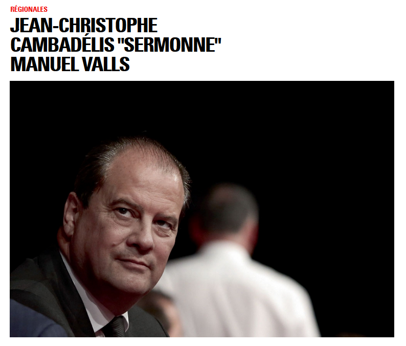 Jean-Christophe Cambadélis sermonne Manuel Valls