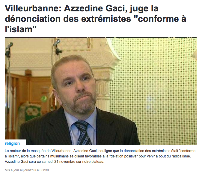 """""""la dénonciation des extrémistes était conforme à l'islam"""