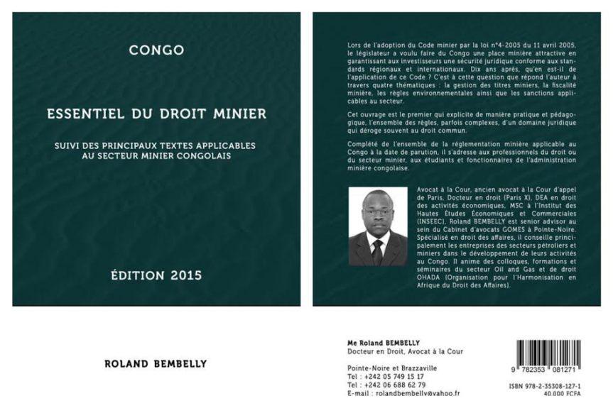 Livre de Roland bembelly Droit minier au Congo Afrique