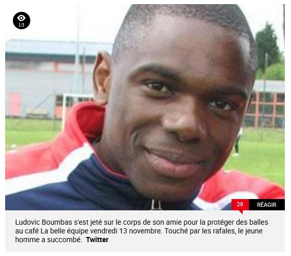 Ludovic Boumbas, Congolais, mort à Paris 13 novembre