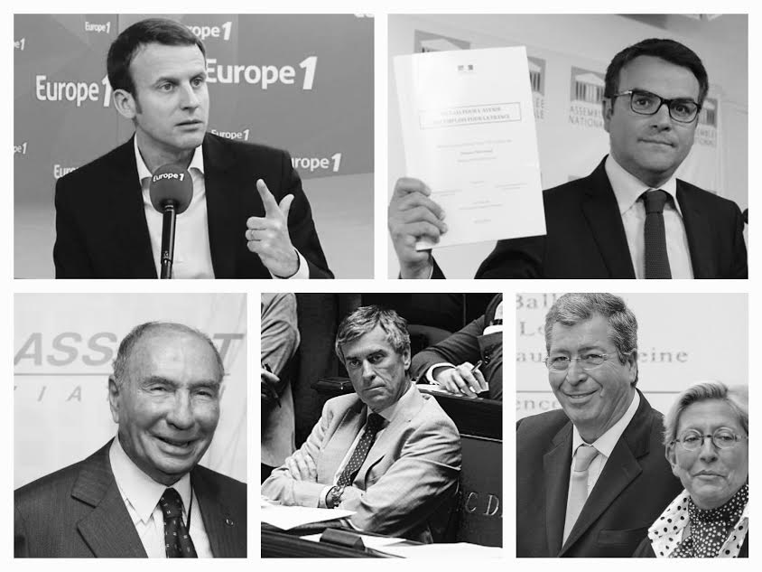 Macron Cahuzac Dassault Balkany Thevenoud