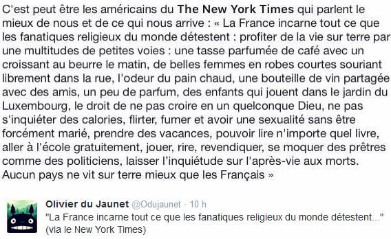 New York Times France terrorisme