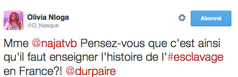 Olivia Nloga Histoire de l'esclavage en France 2015