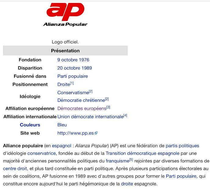 Allaince populaire parti socialiste PS