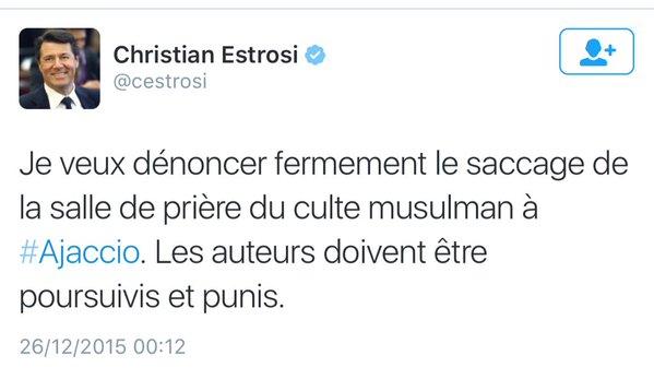 Christian estrosi Tweet Corse