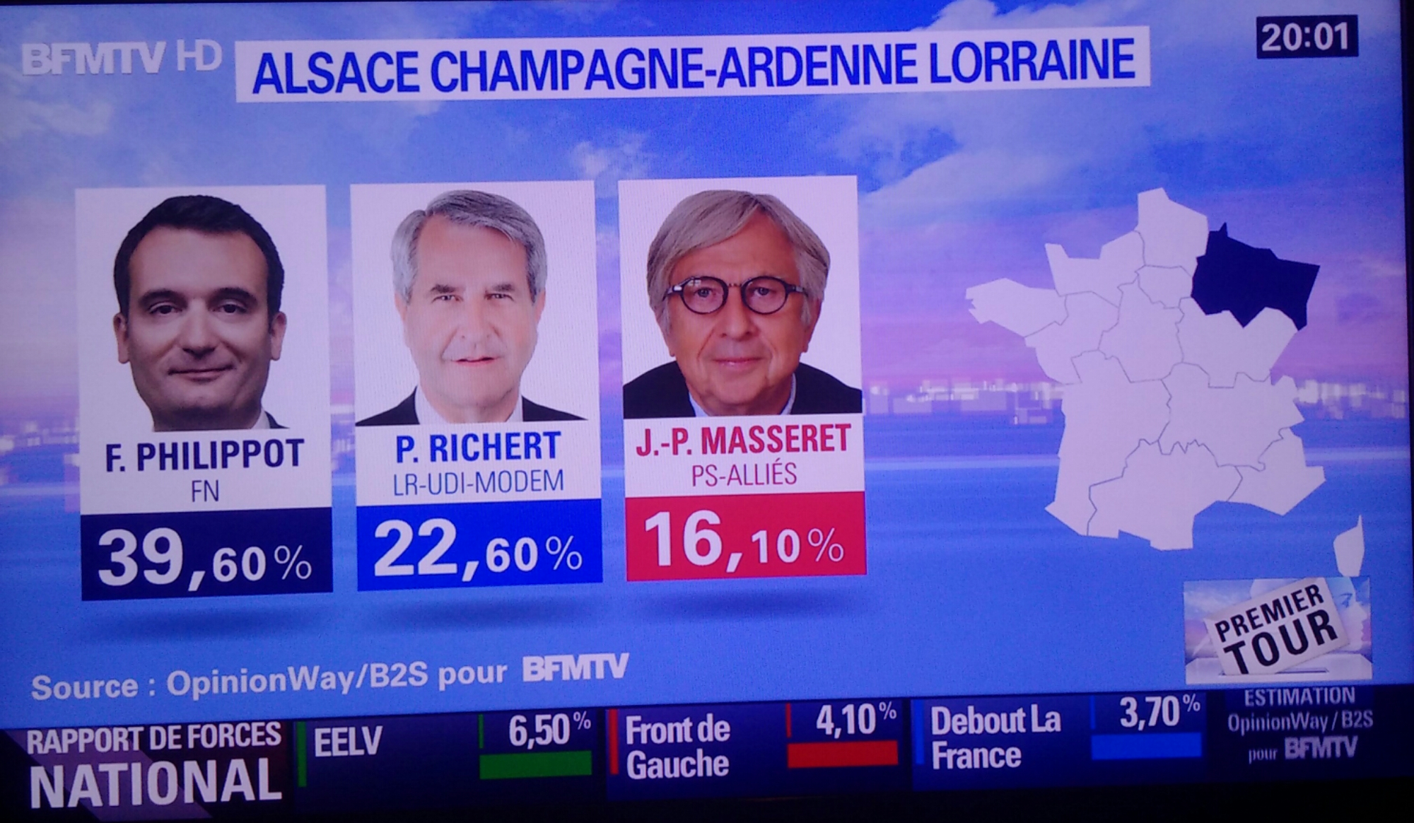 Résultats régionales 2015 Alsace Champagne-Ardenne Lorraine