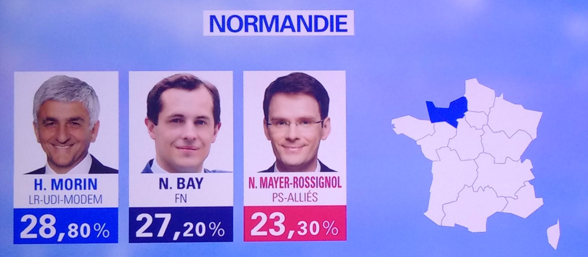 Résultats régionales 2015 Normandie Bay Morin