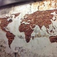 """#StreetArt: cette """"carte du monde"""" est ..."""