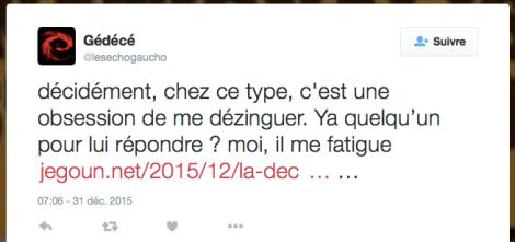 Jegoun Gauche de combat tweet