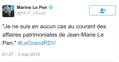 Marine Le Pen Patrimoine Le Pen Fraude