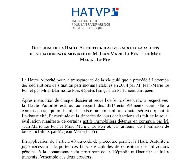 Patrimoine Le Pen