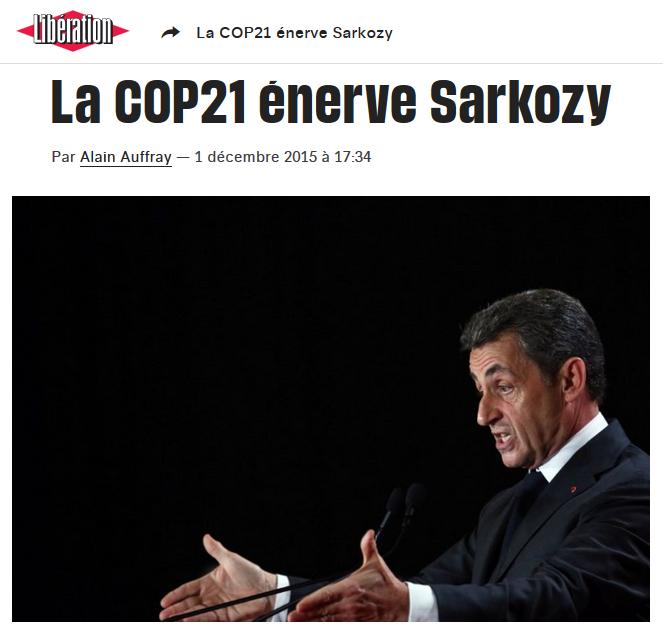 Sarkozy Cop21 l'énerve