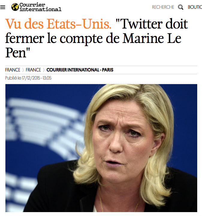 Twitter Marine Le Pen