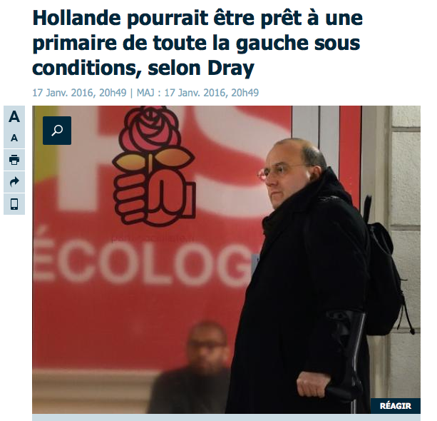 Dray Hollande primre sous conditions