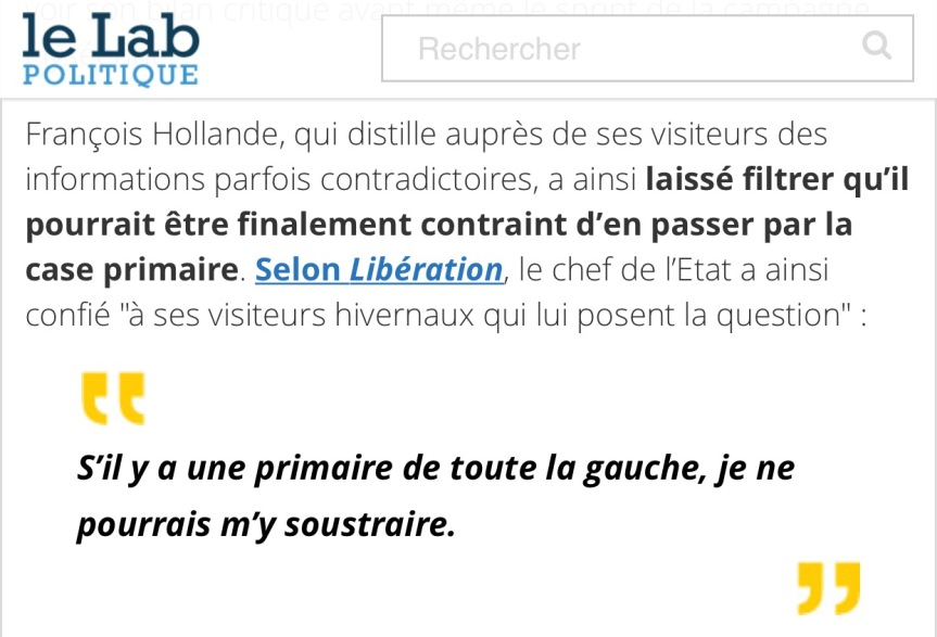 Primaire à Gauche, Hollande