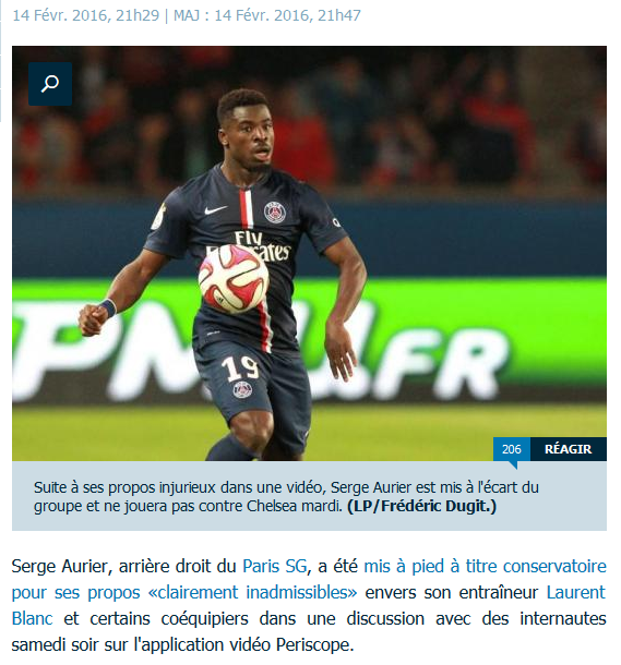 Affaire Aurier Laurent Blanc