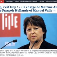 """Martine #Aubry et les """"tribunaires"""": Trop, c'est ... trop tard !"""