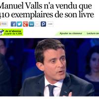 Le bide littéraire de M. #Valls: seulement 410 exemplaires vendus...